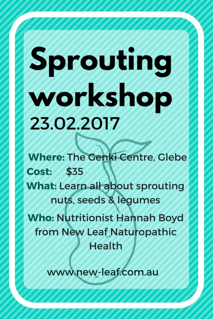 Sprouting workshop with naturopath hannah boyd